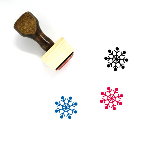 Snow Flake Wooden Rubber Stamp No. 16