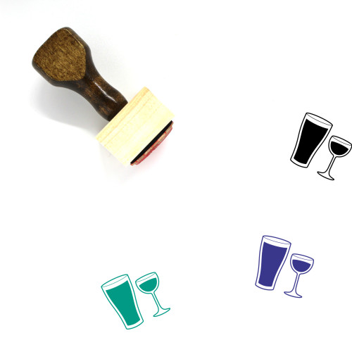 Alcohol Wooden Rubber Stamp No. 28