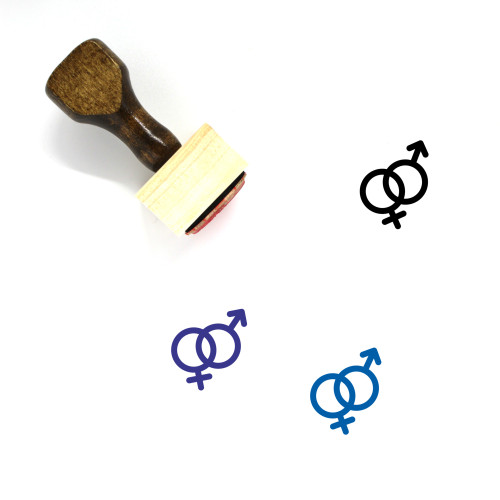 Gender Equality Wooden Rubber Stamp No. 27