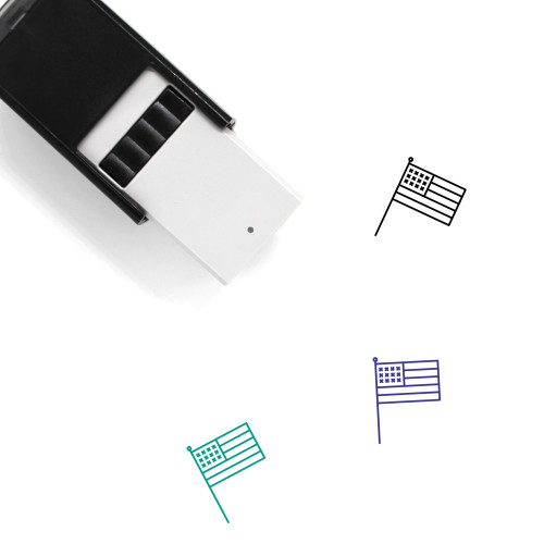 American Flag Self-Inking Rubber Stamp No. 11