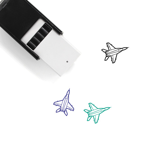 Jet Fighter Self-Inking Rubber Stamp No. 1