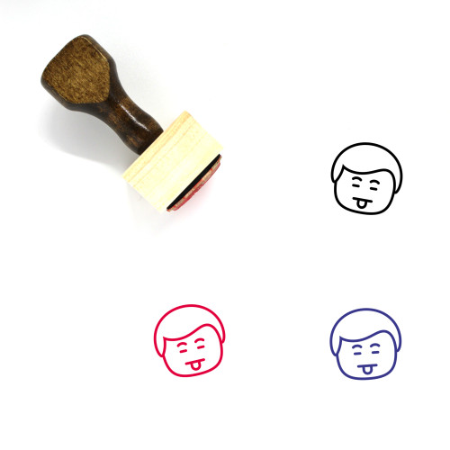 Man Wooden Rubber Stamp No. 359