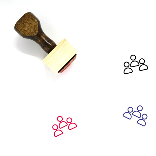 Business Meeting Wooden Rubber Stamp No. 21