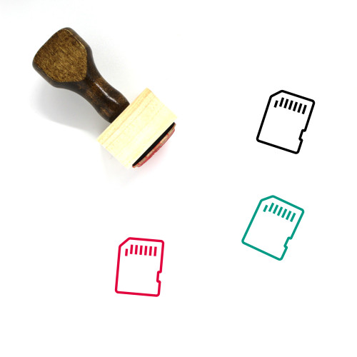 Memory Card Wooden Rubber Stamp No. 49