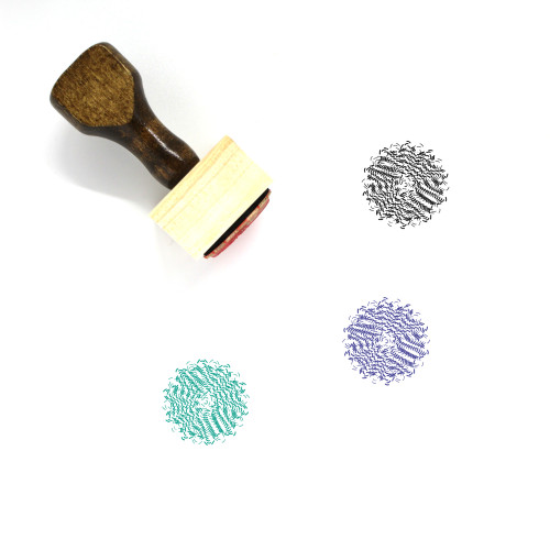 Abstract Pattern Wooden Rubber Stamp No. 1
