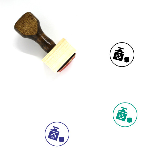 Antiseptic Wooden Rubber Stamp No. 5