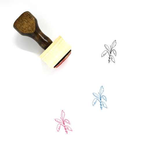 Palm Wooden Rubber Stamp No. 119