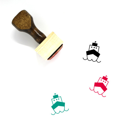 Cruise Ship Wooden Rubber Stamp No. 24