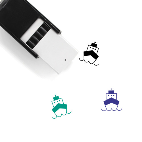 Cruise Ship Self-Inking Rubber Stamp No. 24