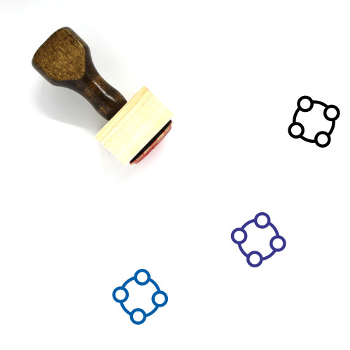 Rattle Wooden Rubber Stamp No. 17