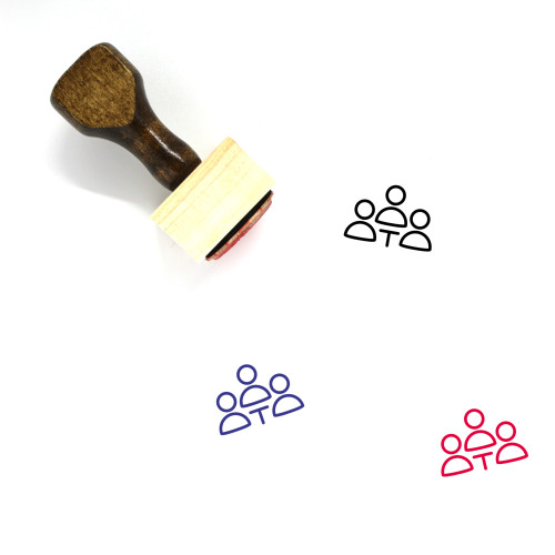 Business Meeting Wooden Rubber Stamp No. 22
