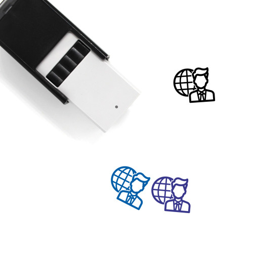 Global Business Self-Inking Rubber Stamp No. 23