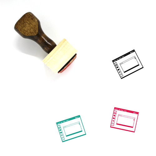 Operating System Layout Wooden Rubber Stamp No. 9