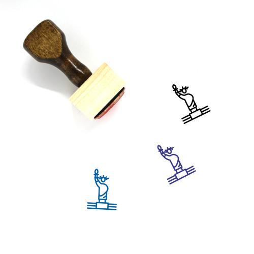 Statue Of Liberty Wooden Rubber Stamp No. 45