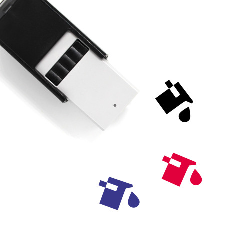Fill Color Self-Inking Rubber Stamp No. 1