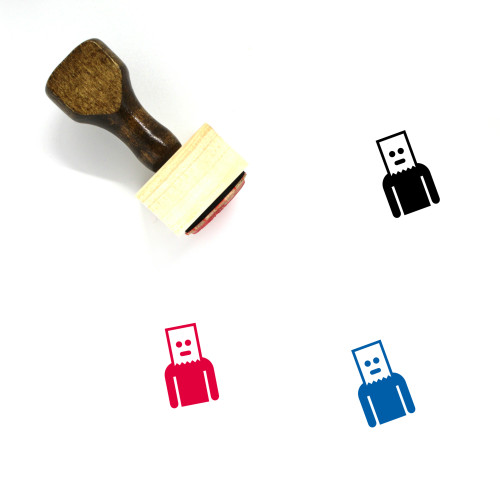 Disguise Wooden Rubber Stamp No. 2