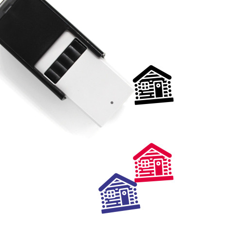 Log Cabin Self-Inking Rubber Stamp No. 13
