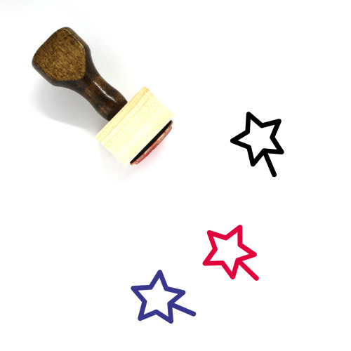 Magic Wand Wooden Rubber Stamp No. 29