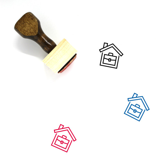 Home Business Wooden Rubber Stamp No. 10