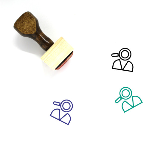 Inspector Wooden Rubber Stamp No. 3