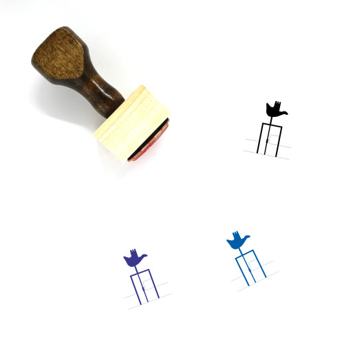 Open Hand Monument Wooden Rubber Stamp No. 3