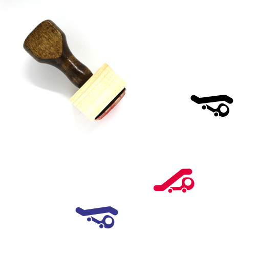 Airport Truck Wooden Rubber Stamp No. 2
