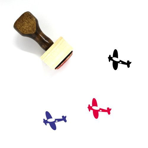 Airplane Wooden Rubber Stamp No. 275