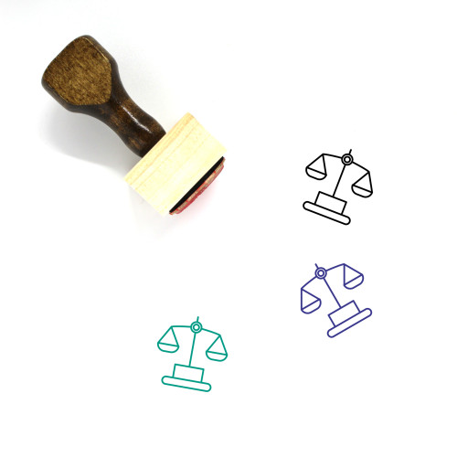 Justice Wooden Rubber Stamp No. 107