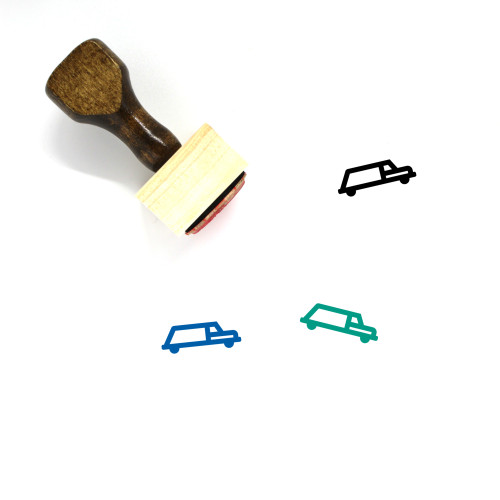 Hearse Wooden Rubber Stamp No. 4