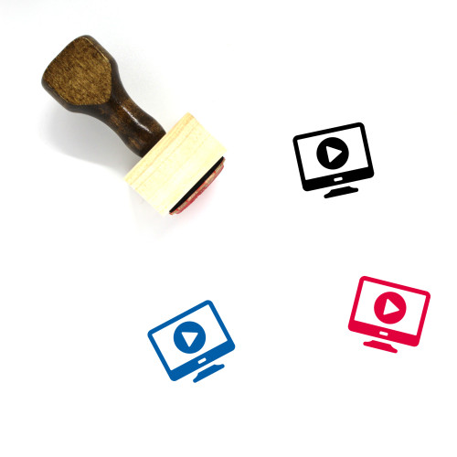 Video Player Wooden Rubber Stamp No. 12