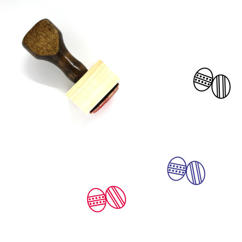Easter Eggs Wooden Rubber Stamp No. 131