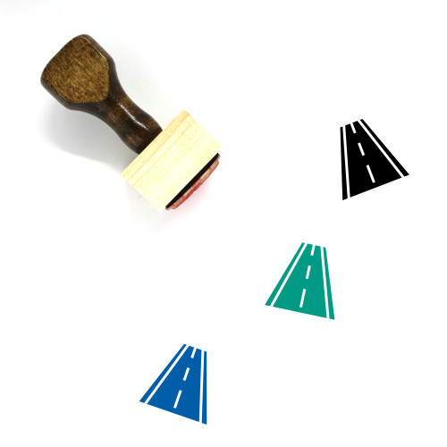 Road Wooden Rubber Stamp No. 53