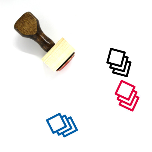 Assets Wooden Rubber Stamp No. 5