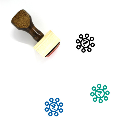 Rupee Crowdfunding Wooden Rubber Stamp No. 1