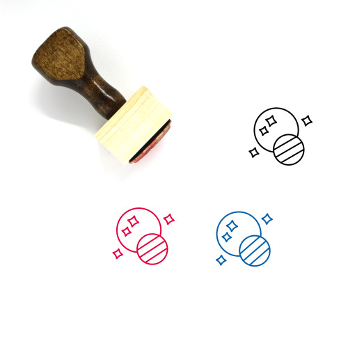 Space Wooden Rubber Stamp No. 85