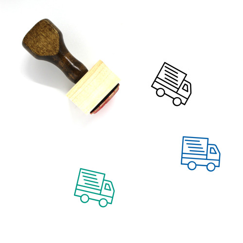 Delivery Truck Wooden Rubber Stamp No. 22