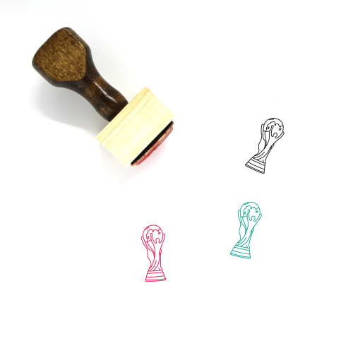 World Cup Wooden Rubber Stamp No. 5