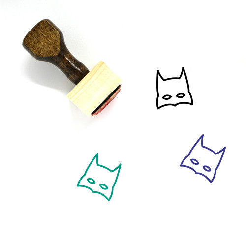 Mask Wooden Rubber Stamp No. 1