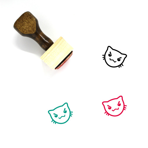 Angry Wooden Rubber Stamp No. 64
