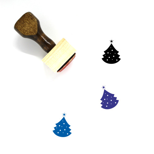 Christmas Tree Wooden Rubber Stamp No. 107