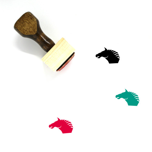 Horse Wooden Rubber Stamp No. 20