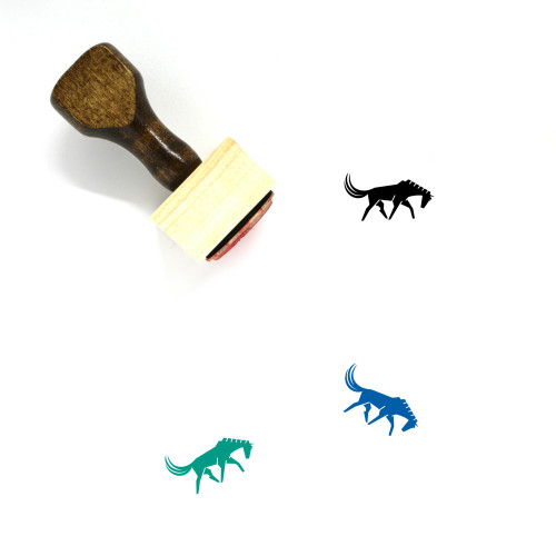Horse Wooden Rubber Stamp No. 27