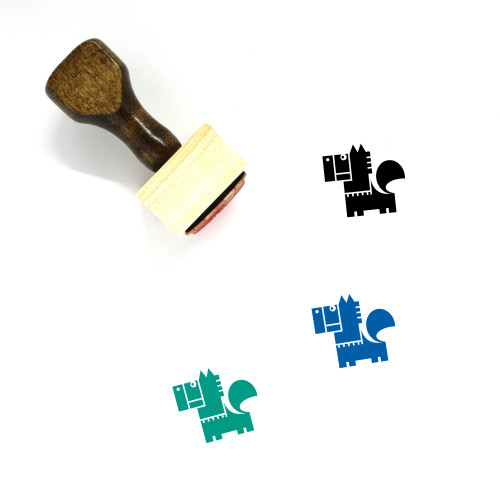 Horse Wooden Rubber Stamp No. 35