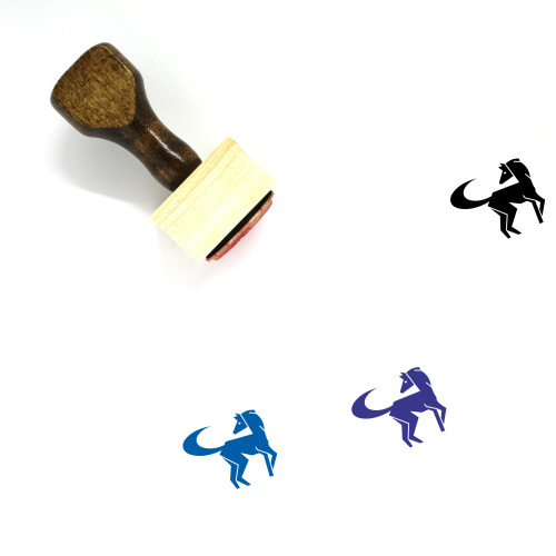 Horse Wooden Rubber Stamp No. 38