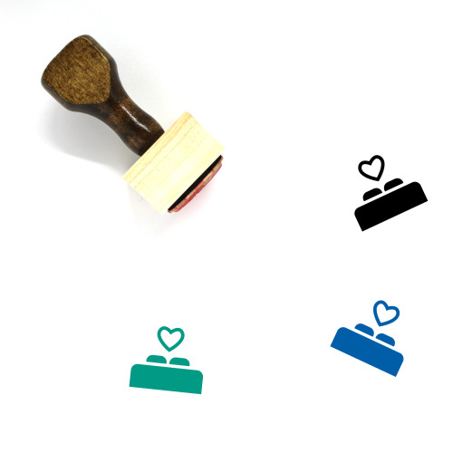 Nuptial Bed Wooden Rubber Stamp No. 1
