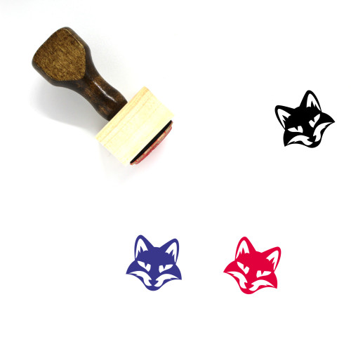 Fox Head Wooden Rubber Stamp No. 2