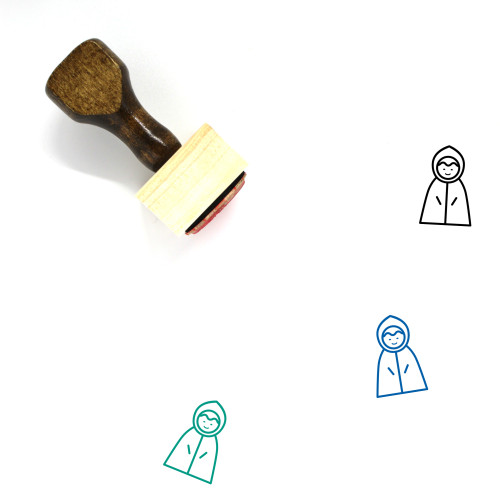 Raincoat Wooden Rubber Stamp No. 2