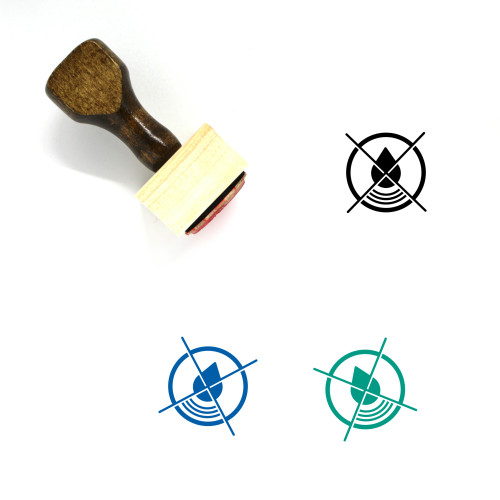 Do Not Waste Water Wooden Rubber Stamp No. 1