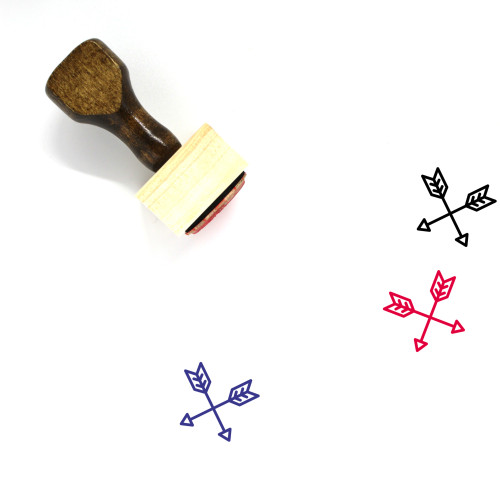 Crossed Arrows Wooden Rubber Stamp No. 7