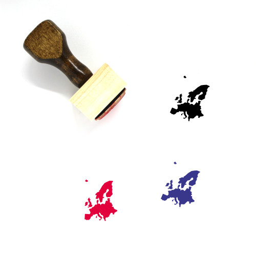Europe Wooden Rubber Stamp No. 35